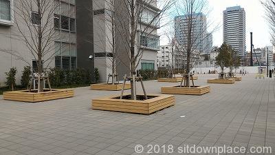 """""""中野中学校グラウンド前"""