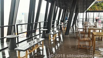 東急プラザ銀座キリコテラスの座れる休憩所