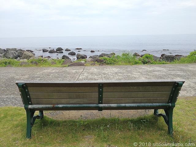 初島アイランドリゾート側ベンチからの風景