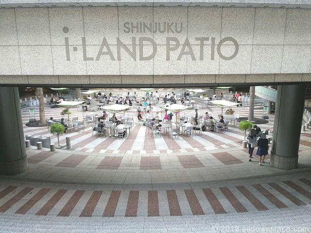 新宿アイランドタワー パティオ入口