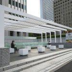 【新宿駅】新宿野村ビル前 青梅街道沿い 休憩スペース