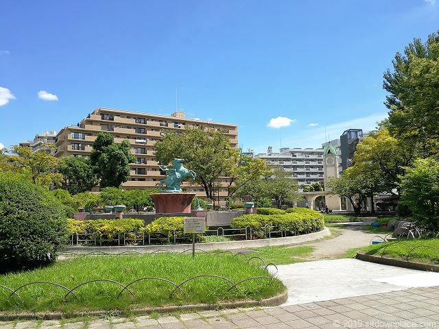 赤羽公園の噴水広場