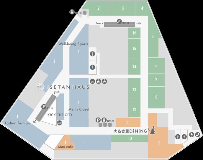 大名古屋ビルヂング2Fフロアマップ