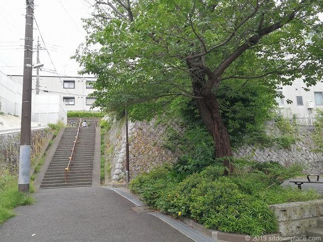 生田三田第7公園前の通り