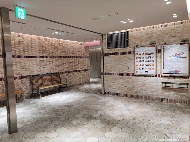 アトレ川崎3Fエレベーター前の休憩場所