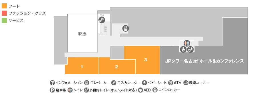KITTE名古屋公式 3Fフロアガイド