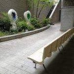 【向ヶ丘遊園駅】多摩図書館 パティオの休憩場所