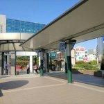 【武蔵溝ノ口駅】円筒広場の休憩場所
