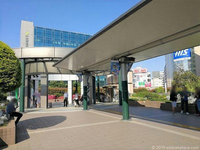 武蔵溝ノ口円筒広場の外観