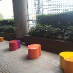 【川崎駅】ミューザ2F 屋外デッキの休憩場所