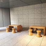 【名古屋駅】KITTE名古屋B1F 屋外階段付近の休憩場所