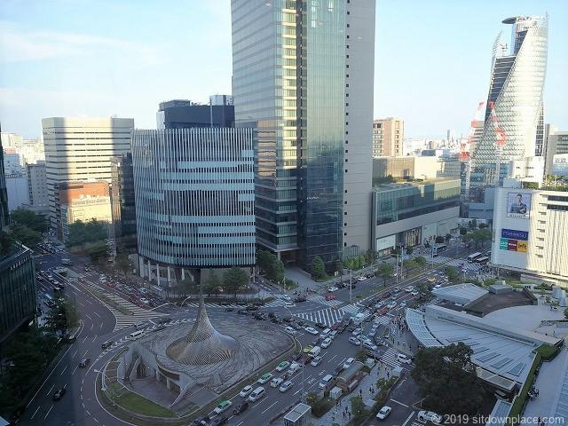 タワーズシャトル付近スカイストリートからの名古屋駅の景観