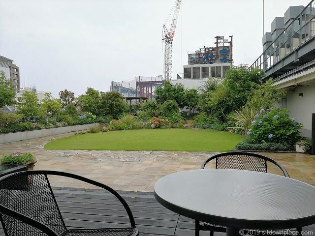 ラスカ小田原屋上庭園スカイガーデンU-meテラスの休憩場所からの景観