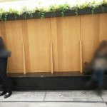 【大宮駅構内】エキュート  パークサイドカフェ前 化粧室横の休憩場所