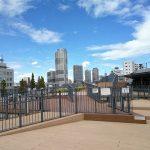 【押上】自転車駐輪場屋上広場の休憩場所