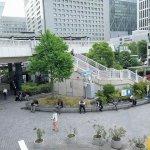 【品川駅】港南口交番付近の休憩場所