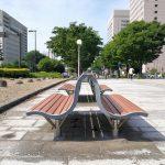 【富山駅】ブールバール いたち川付近の休憩場所