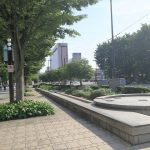 【富山駅】北口ブールバール 牛島町交差点以南の休憩場所