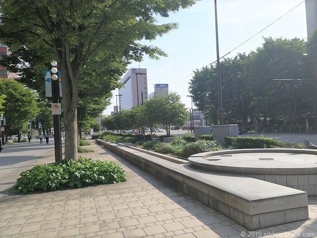 富山駅北口ブールバールの休憩場所