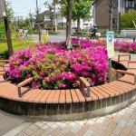 【矢野口駅】北口駅前のベンチ