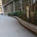 【大手町駅】永楽小径 永楽ビルディング前の休憩場所