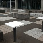 【中野駅】帝京平成大学前の休憩場所