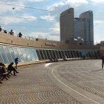 【桜木町駅】日本丸横浜みなと博物館 正面の休憩場所