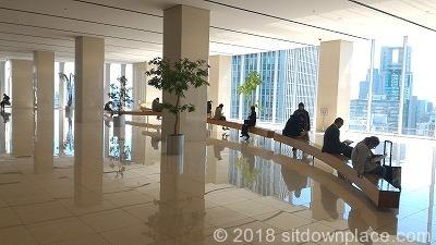 梅田阪急ビル15Fスカイロビーの座れる休憩場所