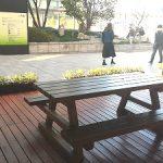 【大阪駅】ノースゲートビル 10F 和らぎの庭の休憩場所