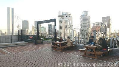 大阪ステーションシティノースビル天空の農園のテーブル席