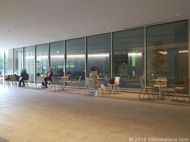 東京ガーデンテラス紀尾井タワー前の休憩場所