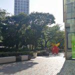 【赤坂見附駅】東京ガーデンテラス2F テラスの小道の休憩場所