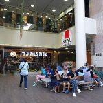【浅草駅】浅草ROX サンマルクカフェ側 出入口の休憩場所