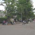 【浅草駅】浅草寺境内 二天門側の休憩場所