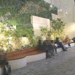【日比谷駅】日比谷シャンテ B2F グリーンウォールの休憩場所