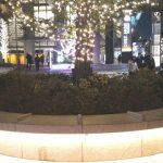 【飯田橋駅】サクラテラス正面 早稲田通り付近