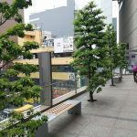 【立川駅】伊勢丹横 宝くじ売り場前 デッキの休憩場所