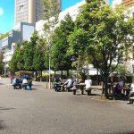 【神保町駅】小川広場の休憩場所