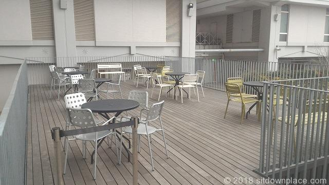 あべのハルカスウイング館屋上のテーブル席