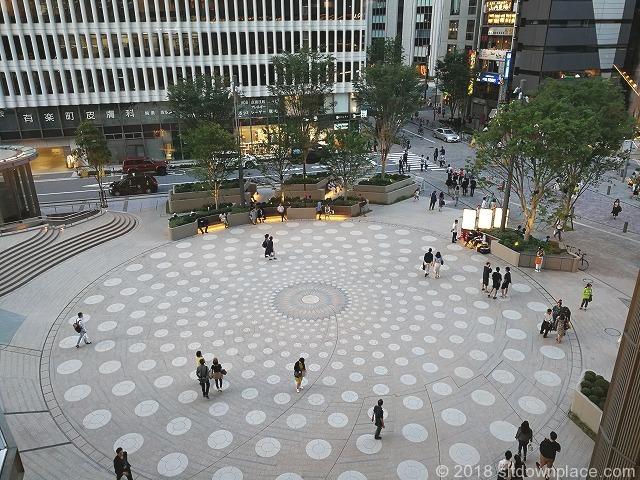 東京ミッドタウン日比谷前広場の俯瞰