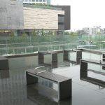 【二子玉川駅】ライズ リバーフロント2F リボンストリート側の休憩場所
