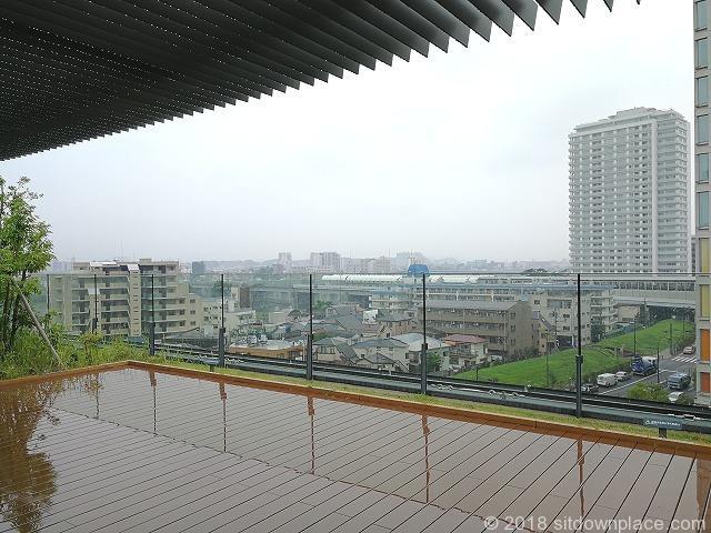 二子玉川ライズルーフガーデン5F青空デッキの眺望