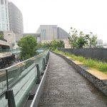 【二子玉川駅】ライズ ルーフガーデン3F 菜園広場の休憩場所