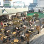【池袋駅】東武 8F スカイデッキ広場の休憩場所