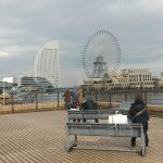 【桜木町駅】日本丸メモリアルパーク 入口の休憩場所
