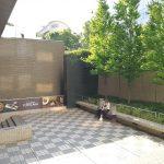 【品川駅】いちょう坂 階段下 レストラン前の休憩場所