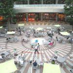 【新宿駅】新宿アイランドタワー パティオ広場の休憩場所