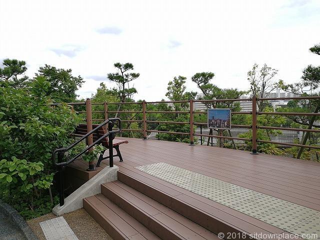目黒天空庭園の展望ベンチ