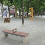 【稲荷町駅】西町公園の休憩場所