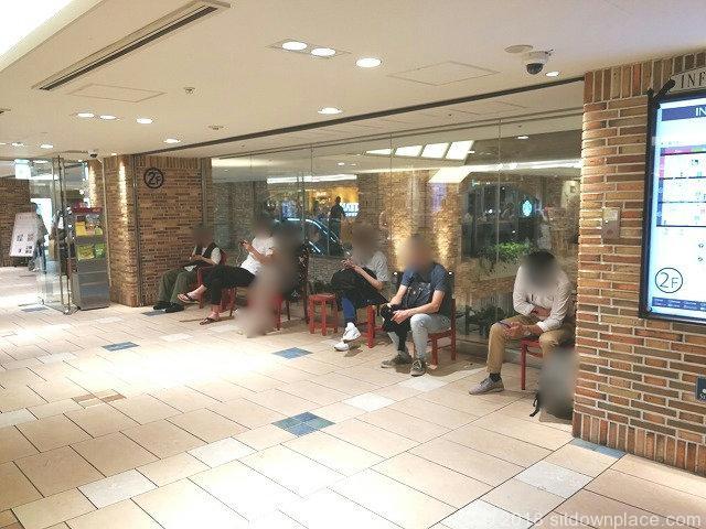 吉祥寺アトレ西口改札前の座れる休憩場所